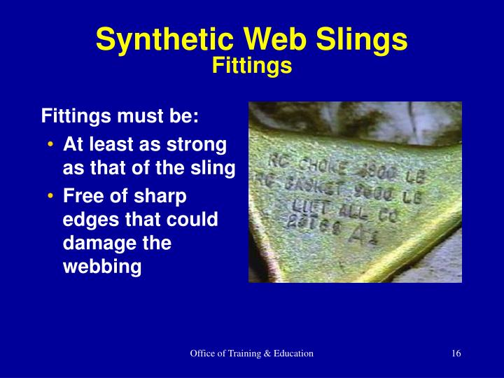 Synthetic Web Slings