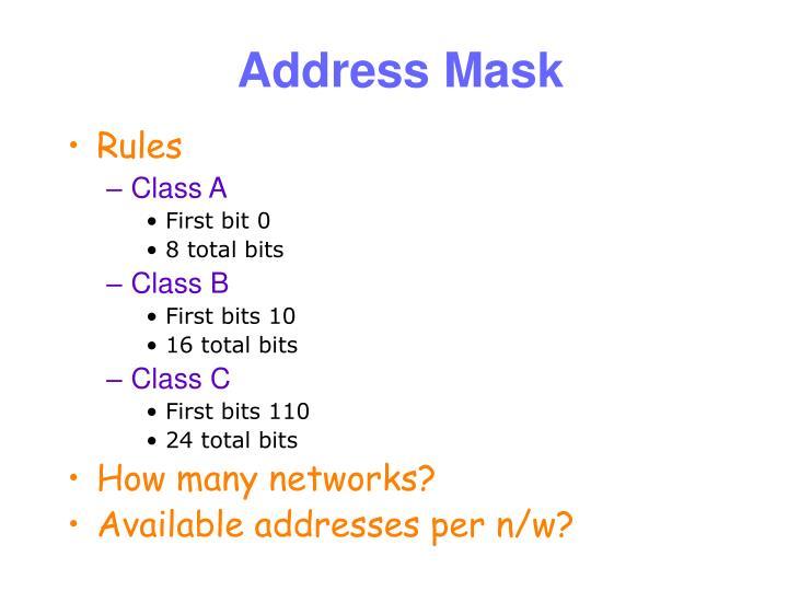 Address Mask