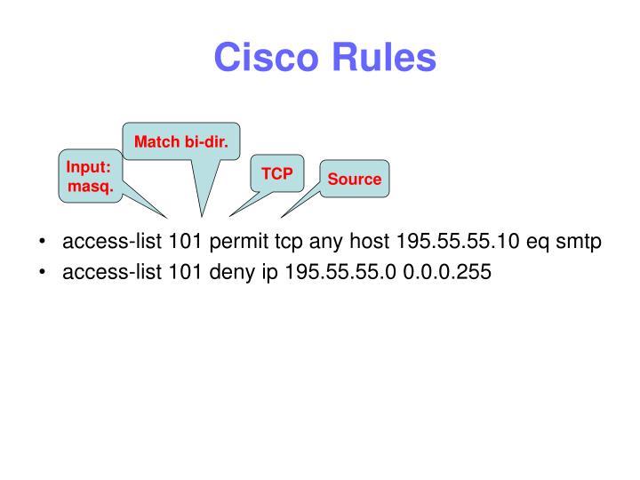 Cisco Rules