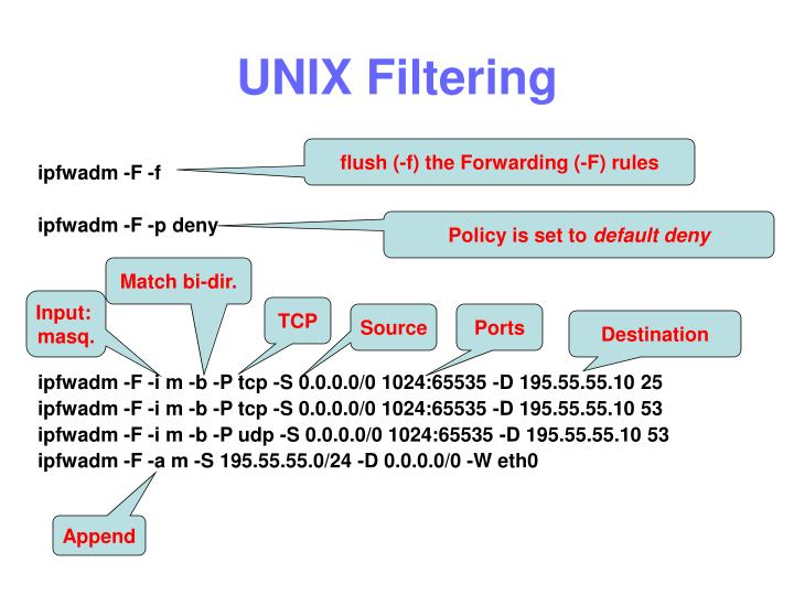 UNIX Filtering