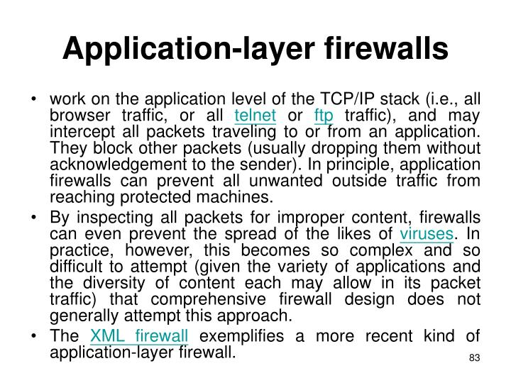 Application-layer firewalls