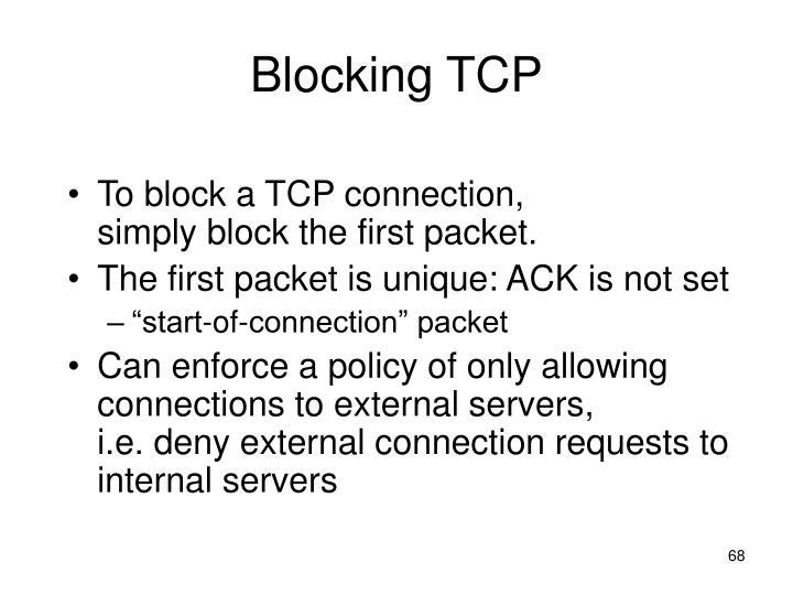 Blocking TCP