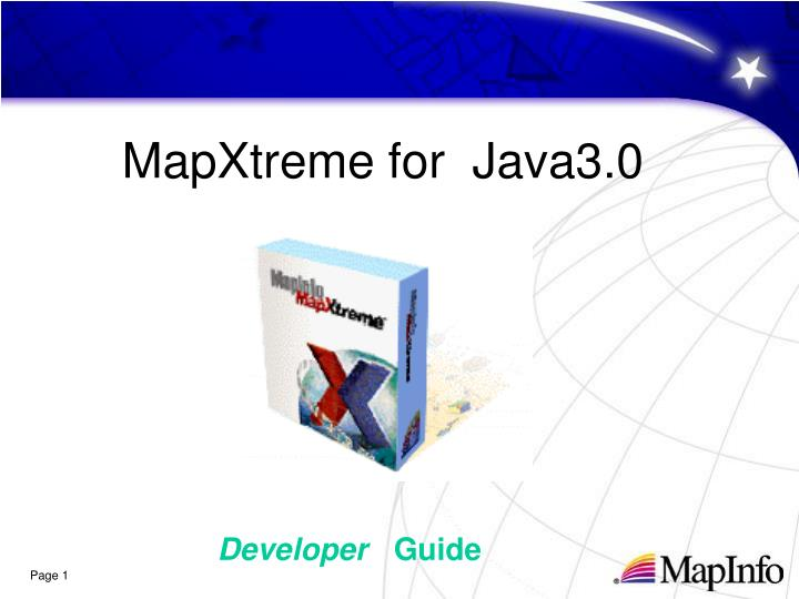MapXtreme for  Java3.0