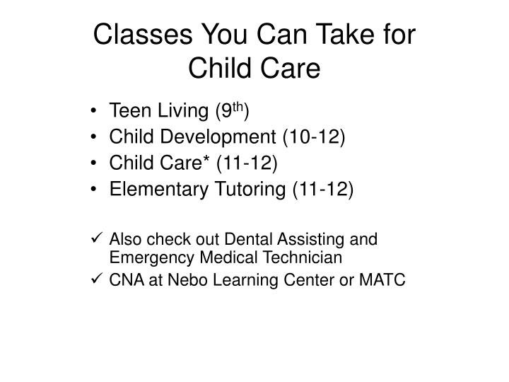 Classes You Can Take for