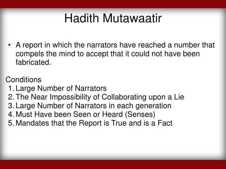 Hadith Mutawaatir