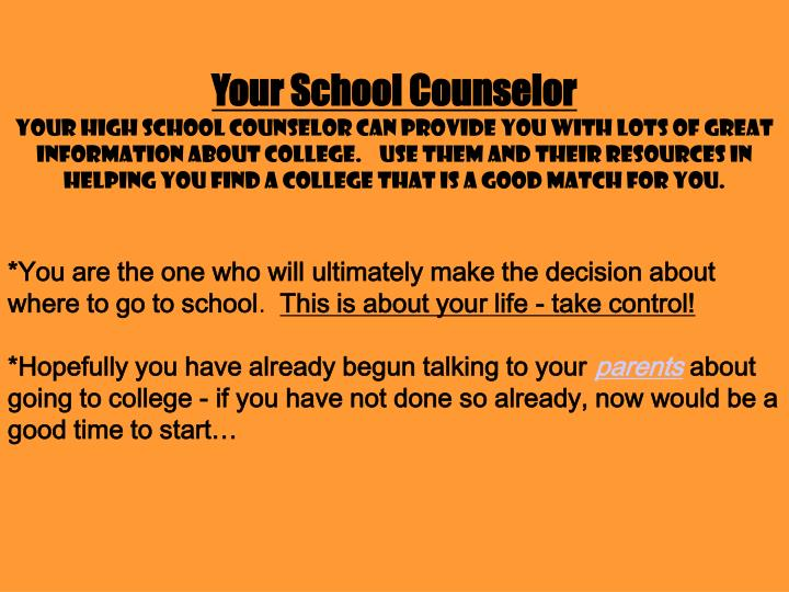 Your School Counselor