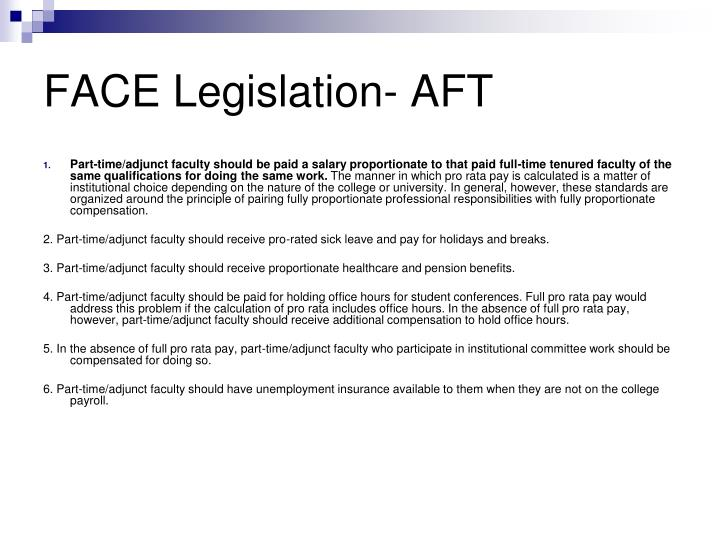 FACE Legislation- AFT