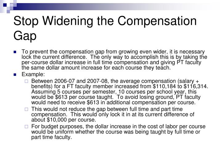 Stop Widening the Compensation Gap