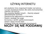 u ywaj internetu