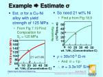 example estimate