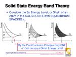 solid state energy band theory