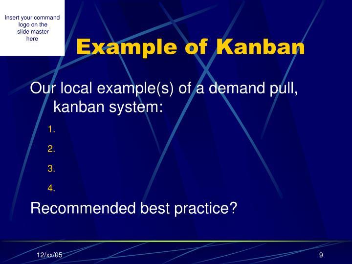 Example of Kanban
