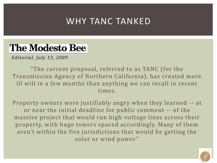 Why TANC Tanked
