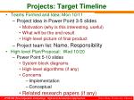projects target timeline