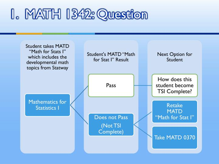 1.  MATH 1342: Question