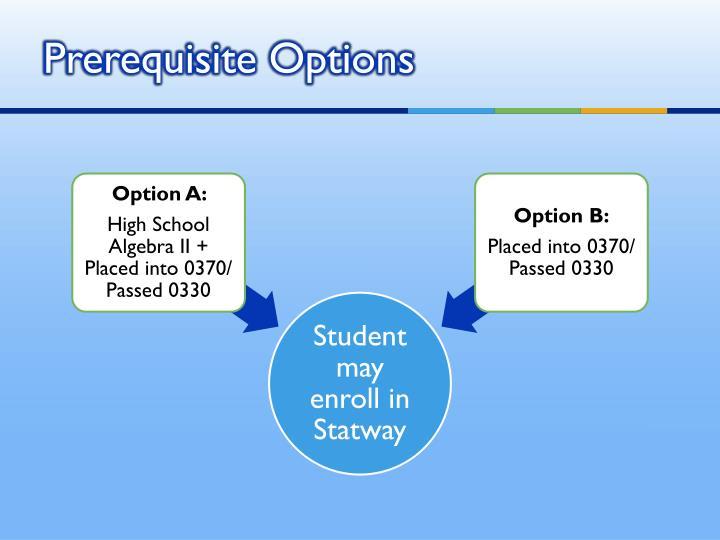 Prerequisite Options