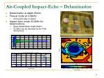 air coupled impact echo delamination
