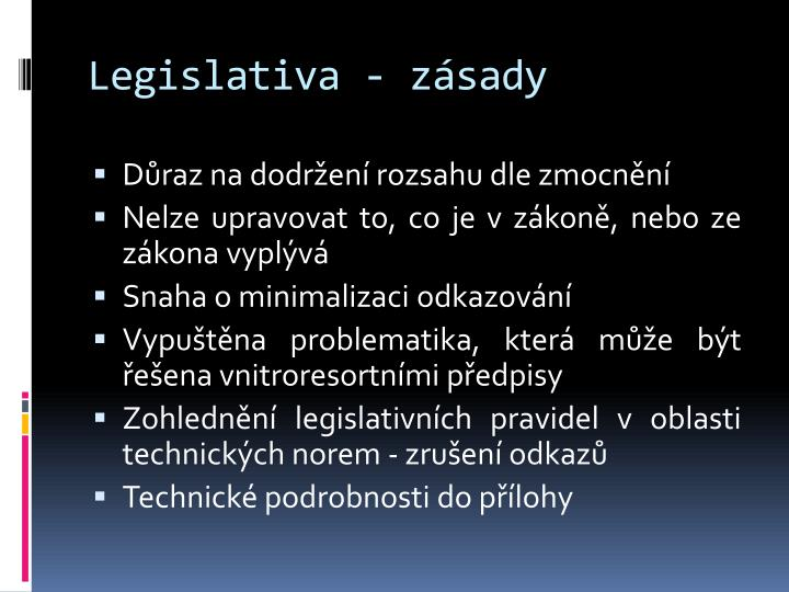 Legislativa z sady