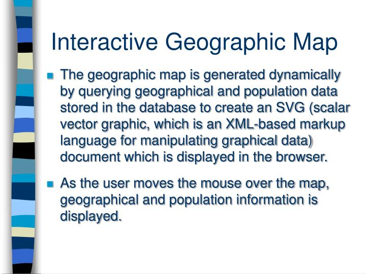 Interactive Geographic Map