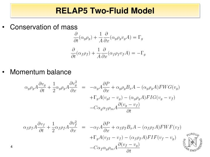RELAP5 Two-Fluid Model