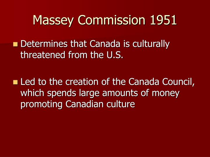 Massey Commission 1951