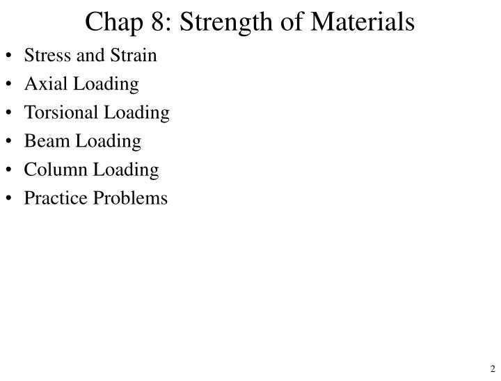 Chap 8 strength of materials