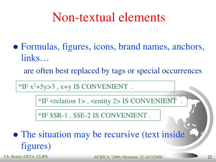 Non-textual elements