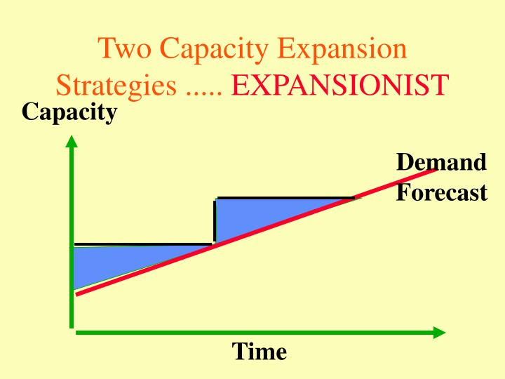 Two Capacity Expansion Strategies .....