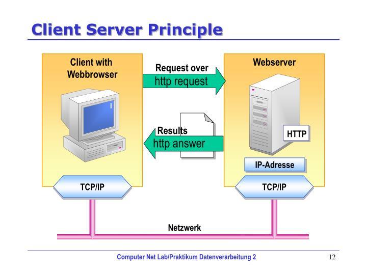 Client Server Principle