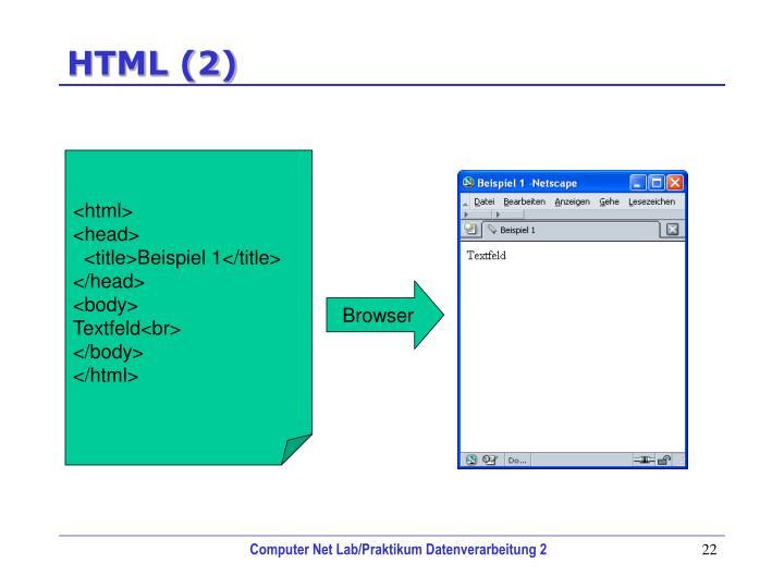 HTML (2)