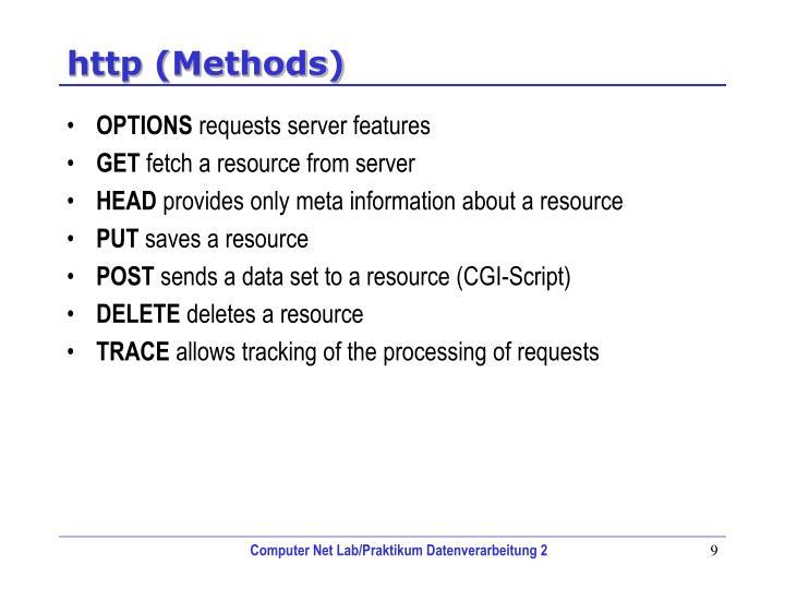 http (Methods)