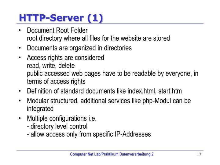 HTTP-Server (1)