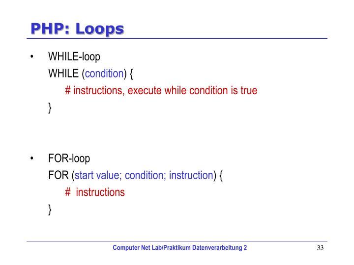 PHP: Loops