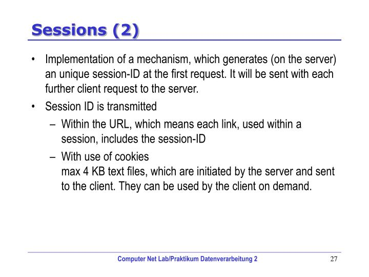 Sessions (2)