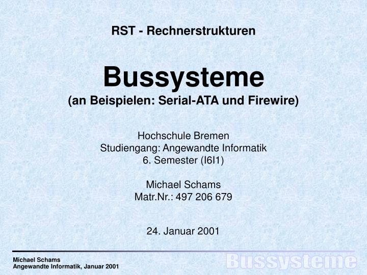 RST - Rechnerstrukturen