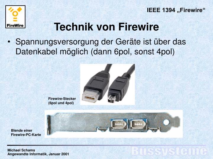 Firewire-Stecker