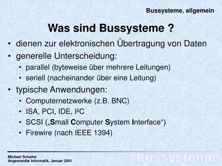 Was sind bussysteme