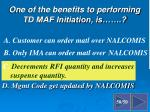 d mgmt code get updated by nalcomis