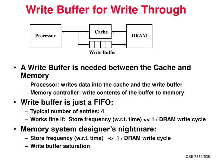 Write Buffer for Write Through