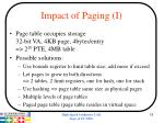impact of paging i