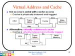 virtual address and cache