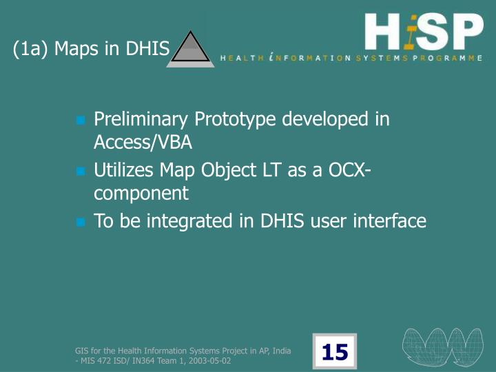 (1a) Maps in DHIS