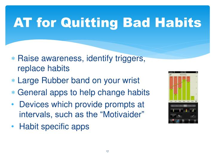 AT for Quitting Bad Habits