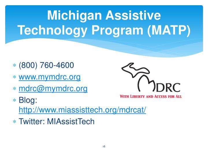 Michigan Assistive Technology Program (MATP)