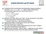 analisi attivit lay sit stand