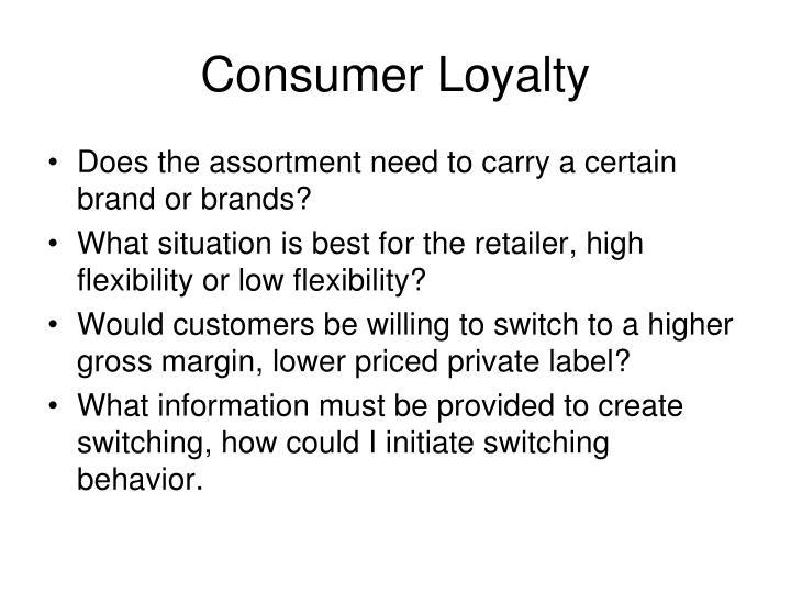 Consumer Loyalty