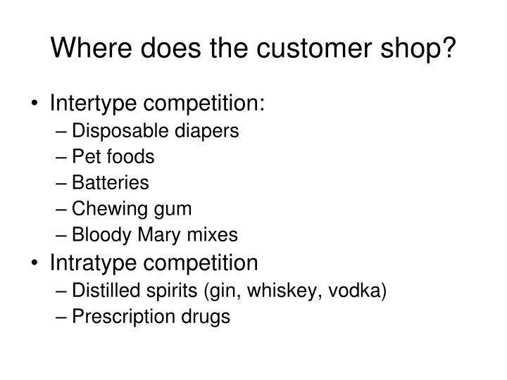 Where does the customer shop?