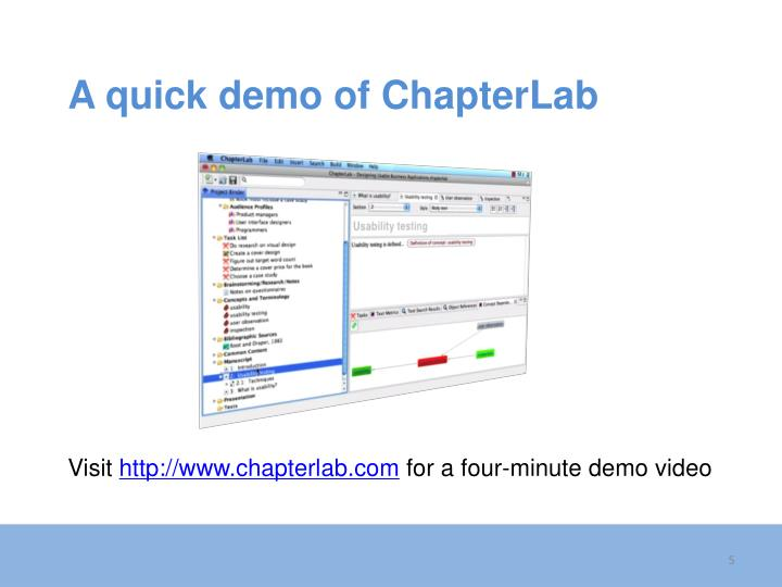 A quick demo of ChapterLab