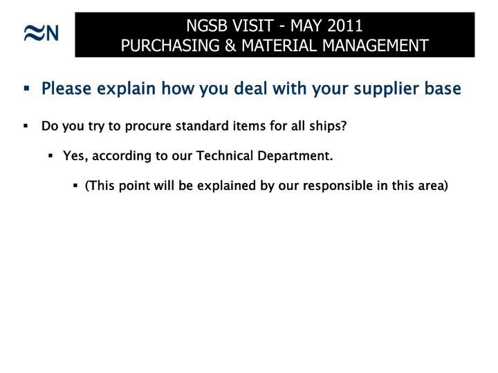 Ngsb visit may 2011 purchasing material management2