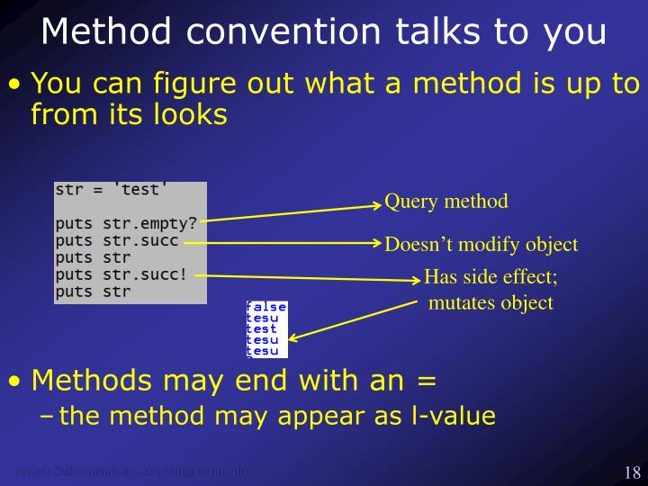 Method convention talks to you